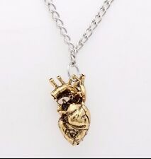 Gold Anatomical Heart Necklace