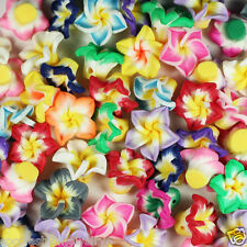Wholesale 15mm/20mm  Pretty Mixed Polymer Fimo Clay Flower Spacer Loose beads