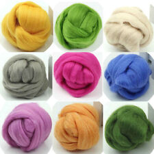 New Wool Corriedale Needlefelting Top Roving Dyed Spinning Wet Felting Fiber