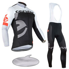 Winter Thermal Fleece Lined Mens Cycling Jersey Jackets Bib Pants Troursers Kits