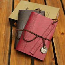 Classic Vintage Retro Leather Journal Travel Notepad Notebook Blank Diary Hot