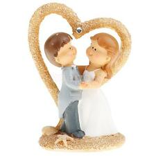 Hot Fashion Wedding Birthday Romantic Bride and Groom Cartoon Cake Topper