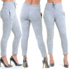 New Women's Ladie's Harem Style Jogger High Waist 3 Button Skinny Jeans Stretch