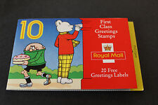 ROYAL MAIL GB 1993 GREETING CHILDREN CHARACTERS 10 x 1st CLASS STAMP BOOKLET (1)