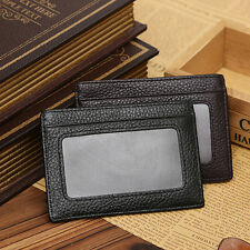 Men Faux Cowhide Leather Money Clip Wallet Credit Card ID Holder Pocket Ardent