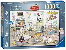 Ravensburger Crazy Cats in The Playroom Puzzle 1000 Piece Jigsaw Puzzle