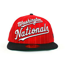NEW - Washington Nationals New Era MLB Hat - Men's Fitted Cap (Pinstripe)