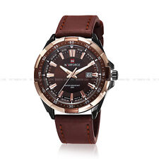 Army Sport Wrist Watch Analog Fashion Naviforce Men's Gent Date Leather  9056