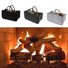 Portable Fireplace Firewood Fire Wood Log Canvas Caddy Tote Bag Carrier Holder