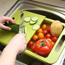 Multifunction Safe Amfocus Over The Sink Cutting Board Colander Chopping Board