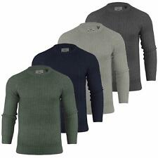 Mens Jumper Brave Soul 'Binary' Knit Crew Neck Sweater Top S-XL