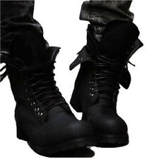 Men's Army Tactical Comfort Leather Combat Military Ankle Boots Army Punk Shoes