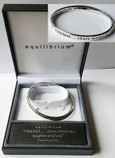Equilibrium Inspirational Silver Bangle - 6 messages to choose from - Gift Boxed