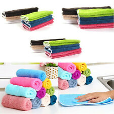 5/10/20Pcs Fiber Bamboo Dish Wash Cloth Cleaning Towel for Kitchen Assted Colors