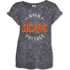 AC/DC GIRLIE-SHIRT High Voltage Vintage Style Hard Rock Heavy Metal ACDC