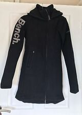 BENCH Black Bonded Fleece Hooded Jacket Top Cardigan New BNWT XS S M