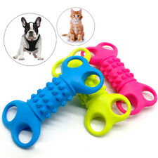 Bone Shape Rubber Interactive Dog Toys Pet Cat Puppy Chew Toy Funny for Puppies