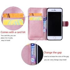 PU Leather Magnetic Flip Cover Wallet Case For iPhone + Free Screen Protector