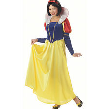 Ladies Princess snow white Costume Gown fancy dress Classic Halloween Cosplay