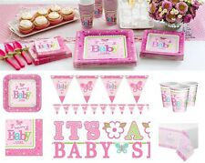 Baby Shower Welcome Girl Party Supplies Decoration Tableware Plates Napkins Cups