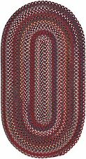 "Capel Rugs ""Bunker Hill"" Wool Variegated Country Braided Oval Rug Red #550"