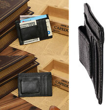 HOT Men Leather Wallet Money Clip Credit Card ID Holder Front Pocket Thin Slim