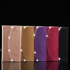 Luxury Diamond Crystal Magnetic Leather Flip Wallet Cover Case For iPhone Models