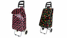 Folding Funky Shopping Trolley Festival Bag New Strong Waterproof Wheeled Light