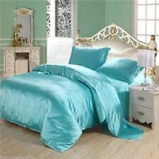 Satin Bedding Sets - 6 Piece Set - 1 Duvet Cover 1 Fitted Sheet 4 Pillowcases