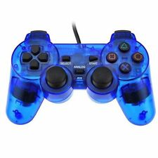XMAS HOTSELL Blue Twin Shock Game Controller Joypad Pad for Sony PS2 Playstation