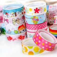 Lot Mixed Roll Craft Decorative Cartoon Scrapbooking Washi Tape Adhesive Sticker
