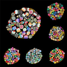DIY 3D Nail Art Fimo Canes Stick Rod Polymer Clay Stickers Tips Decoration SP