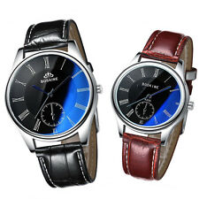Fashion Couple Watches Men Women Genuine Leather Quartz Wristwatch with Box New
