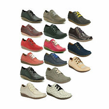 LADIES WOMEN CLARKS LACE UP LEATHER CASUAL FLAT SIZE TROUSER SHOES FUNNY DREAM