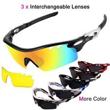 3 Lens Polarized Sports Sunglasses For Driving Cycling Run Hiking Glasses