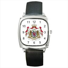 Luxembourg Coat Of Arms Leather Strap Watches - Tabard Surcoat