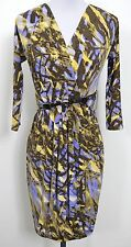 ETCETERA PURPLE YELLOW PALM PRINT BELTED DRESS sizes 0 2 4 6 NEW $295