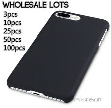 WHOLESALE LOT - iPhone Cases Covers - Hard Rubberized Black Matte Finish, New