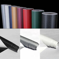 3D Carbon Fiber Vinyl Car Truck DIY Wrap Sheet Film Sticker Decal Roll 9 Colors