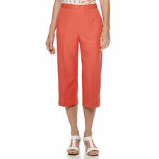 Alfred Dunner Cozumel Coral Capris Size 10, 16, 18 Msrp $48.00 New