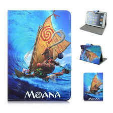"""Universal tablet case movice characters Moana pu leather for 7-7.9"""" stand cover"""