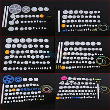 Plastic Gears Kits Pulley Shaft Worm Bevel Gear Sleeve DIY Toy Robot Accessories