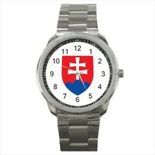 Slovakia Coat Of Arms Stainless Steel Sports Watches - Tabard Surcoat
