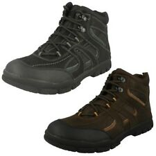 Mens Spot On Flat Casual Lace Up Walking Boot A3032