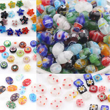 20 Mixed Millefiori Glass Loose Spacer Beads Charm Finding 4/6/8/10/12/13mm