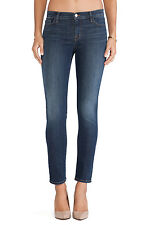 J BRAND Jude Midrise Slim Sexy Ankle Skinny Jeans Pants Storm Faded Blue $190