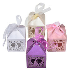 10/50/100 PCS Luxury Wedding Party Sweets Cake Candy Gift Favour Favors Boxes  R