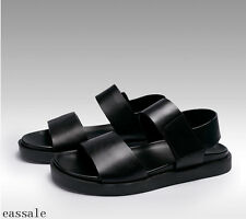Summer Mens Fashion Beach Sandals Leather Fashion Black Causal Shoes US Size