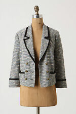 Anthropologie Today's Special Blazer Size 10, Tweed Cropped Jacket By Coquille