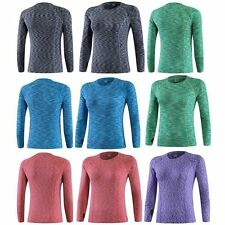 Womens Thermal Gym Long Sleeve Compression Ladies Sports Base Layer Dry Fit Top